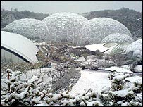 snow closes the Eden Project