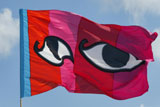 Lucy Birbeck flags around the harbour and Jubilee Poo Penzance